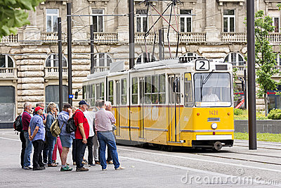 tourists-waiting-cable-car-kossuth-square-budapest-hungary-july-tourist-group-lajos-famous-having-landmarks-such-as-56802194