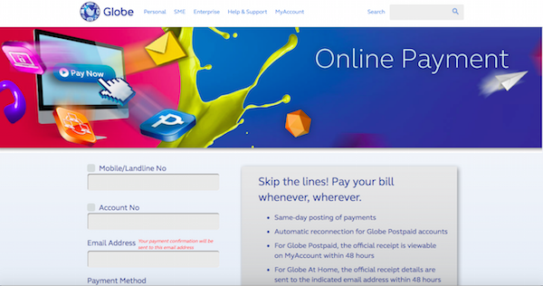 globe_online payment